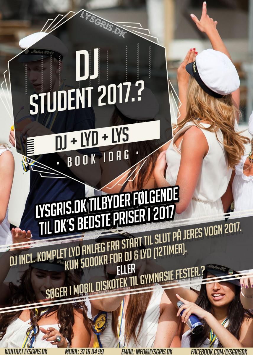 Studenter vogn DJ m. GIGA anlæg.